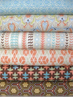 Victoria & Albert, Jones, Citron in Fat Quarters, 6 Total