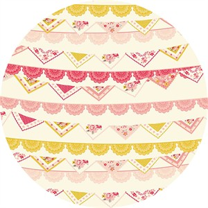 Design by Dani for Riley Blake, Vintage Daydream, Vintage Banner Cream