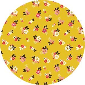 Design by Dani for Riley Blake, Vintage Daydream, Vintage Floral Gold
