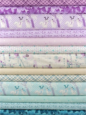 Violet Craft for Michael Miller, Highlands, Lilac in FAT QUARTERS 13 Total