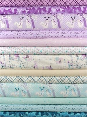 Violet Craft for Michael Miller, Highlands, Lilac 13 Total