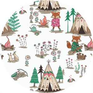 Camelot Fabrics, Wilderness, Campsite White