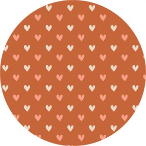 Camelot Fabrics, Wilderness, Hearts Orange