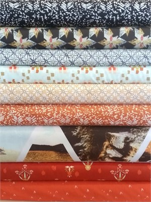 Fabricworm Custom Bundle, Wanderer Journey in FAT QUARTERS 9 Total