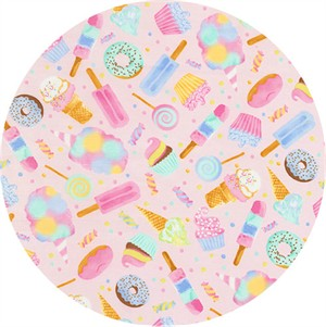Timeless Treasures, Watercolor Sweets Pink