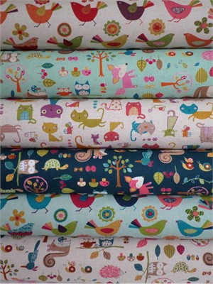 Westex, Print, Natural in FAT QUARTERS 6 Total (Pre-cut)
