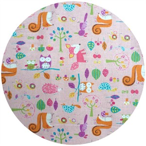 Westex, Print, Printed Woodland Critters Pink