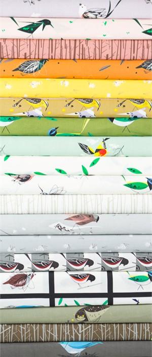 Charley Harper for Birch Organic Fabrics, Western Birds in FAT QUARTERS 18 Total (PRECUT)