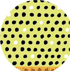 Windham Fabrics, 8 Days a Week, Black and White Dots Yellow