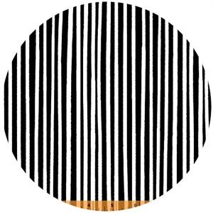 Windham Fabrics, 8 Days a Week, Stripe Black and White