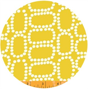 Windham Fabrics, Downtown, Dotten Ovals Yellow