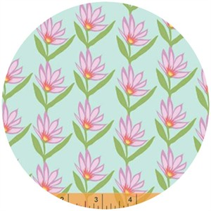 Windham Fabrics, Garden Party Tango, Flower Wave Sky