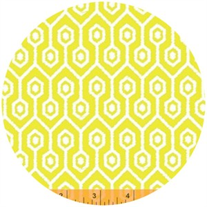 Windham Fabrics, Garden Party Tango, Meander Yellow