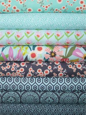 Windham Fabrics, Garden Party Tango, Sky/Charcoal 8 Total