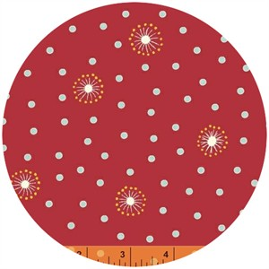 Windham Fabrics, Wallflowers, Dot Red