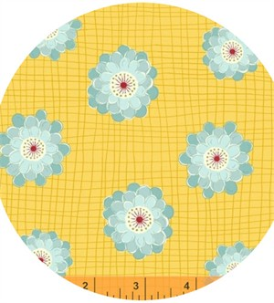 Windham Fabrics, Wallflowers, Flower Grid Yellow