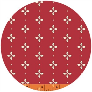 Windham Fabrics, Wallflowers, Foulard Red