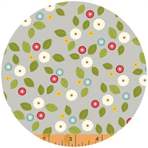 Windham Fabrics, Wallflowers, Small Floral Grey