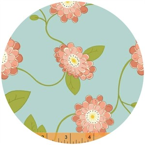 Windham Fabrics, Wallflowers, Vine Flower Aqua