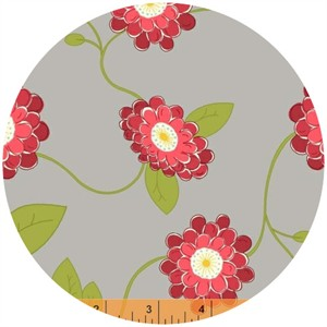 Windham Fabrics, Wallflowers, Vine Flower Grey
