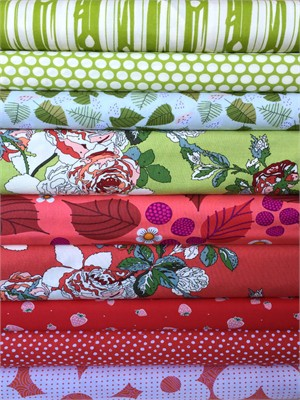 Fabricworm Custom Bundle, Wild Berries in FAT QUARTERS 9 Total