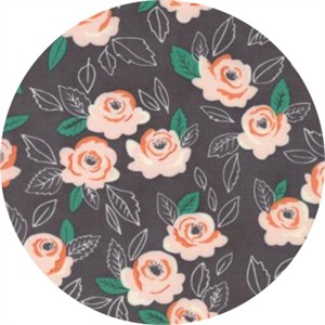 Lella Boutique for Moda, Sugar Pie, Wildest Rose Charcoal