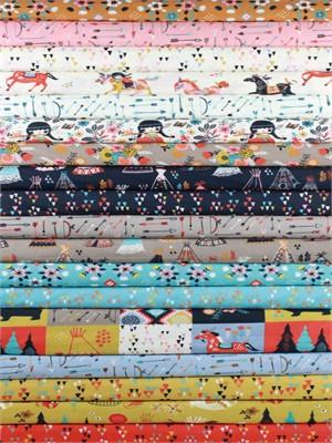 Miriam Bos for Birch Organic Fabrics, Wildland, Entire Poplin Collection in FAT QUARTERS 16 Total