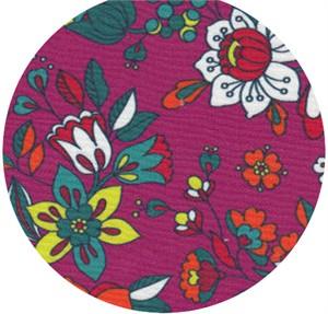 Wide Width Fabrics, Boho Blooms Plum