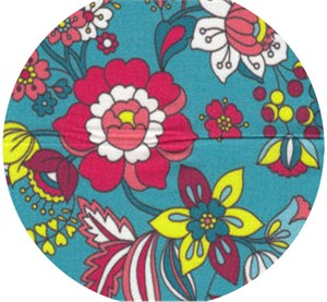 Wide Width Fabrics, Boho Blooms Turquoise