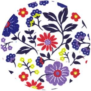 Wide Width Fabric, Corduroy, Retro Floral Multi