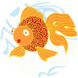 Wide Width Fabric, Goldfish White