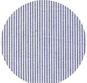 Wide Width Fabrics, Seersucker, Mini Stripe Navy