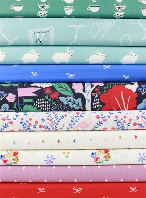Emily Isabella for Birch Organic Fabrics, Wonderland in FAT QUARTERS 10 Total (PRE-CUT)