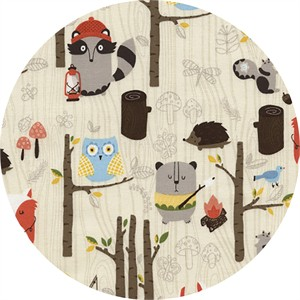 Timeless Treasures, Woodland Animals Cream