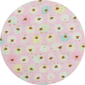 Cosmo Textiles, DOUBLE GAUZE, Wool Fluff Pink