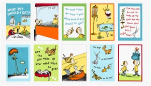 "Robert Kaufman, Dr. Seuss What Pet Should I Get?, Pages (23"" panel)"