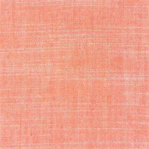 AVAILABLE FOR PREORDER, , Birch Organic Fabrics, Yarn-Dyed Chambray, Coral