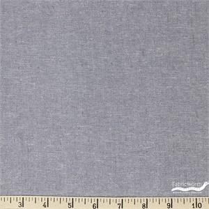 Robert Kaufman, Yarn-Dyed Essex Metallic, LINEN, Fog