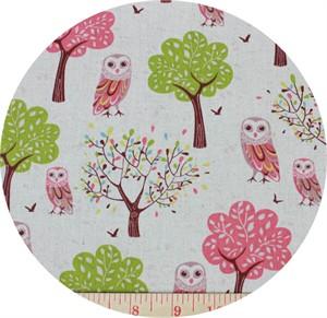 Yuwa Fabrics, CANVAS, Hoot and a Half Natural