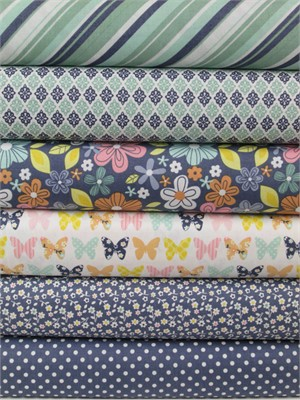 Zoe Pearn, A Beautiful Thing, Navy in FAT QUARTERS 6 Total