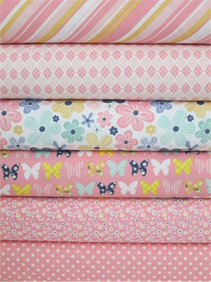 Zoe Pearn, A Beautiful Thing, Pink in FAT QUARTERS 6 Total