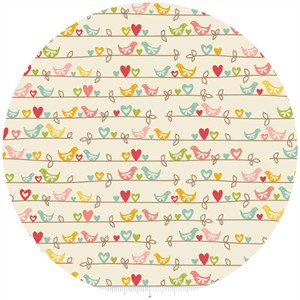 Zoe Pearn for Riley Blake, The Sweetest Thing, Sweetest Birds Cream
