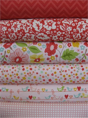 Zoe Pearn for Riley Blake, The Sweetest Thing, Pink in FAT QUARTERS 6 Total
