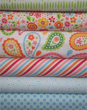 Zoe Pearn, My Sunshine, Blue in FAT QUARTERS 6 Total
