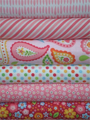 Zoe Pearn, My Sunshine, Pink in FAT QUARTERS 6 Total