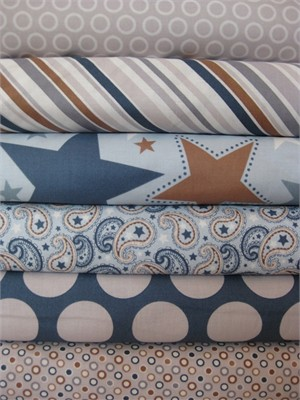 Zoe Pearn, Super Star, Blue in FAT QUARTERS 6 Total