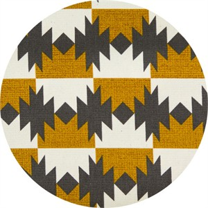 Japanese Import, OXFORD, Native Checkers Mustard