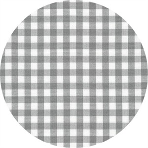 "Robert Kaufman, Carolina Gingham 1/4"", Grey"