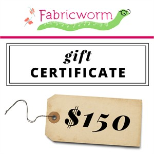 $150 Gift Certificate to fabricworm.com