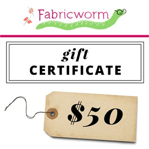 $50 Gift Certificate to fabricworm.com